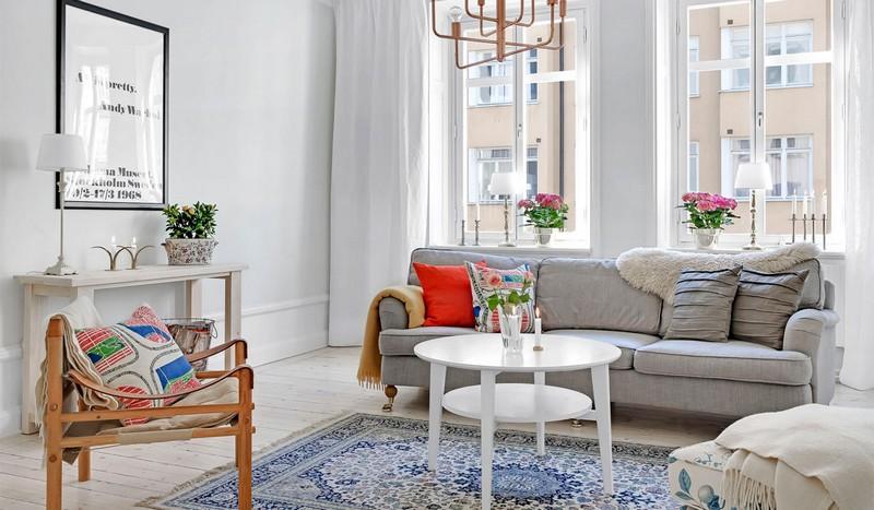 акцент на мебель в скандинавском стиле фото