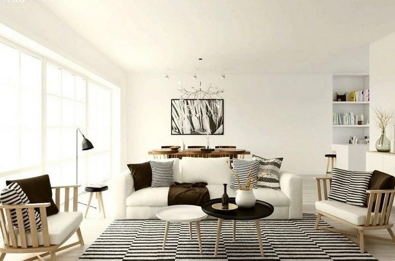 как выбрать мебель в гостиную в скандинавском стиле