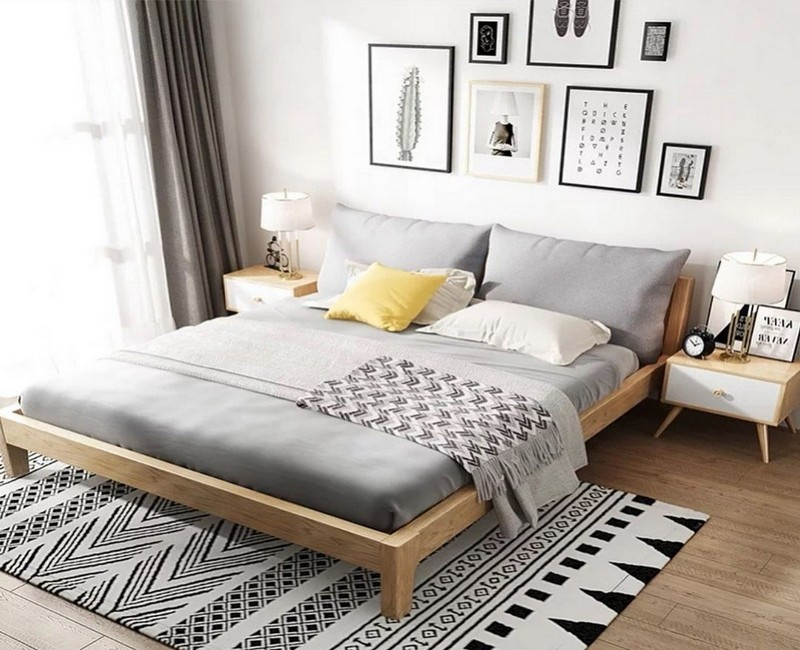 кровать в скандинавском стиле фото