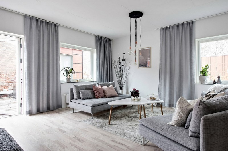 мебель для гостиной в скандинавском стиле фото