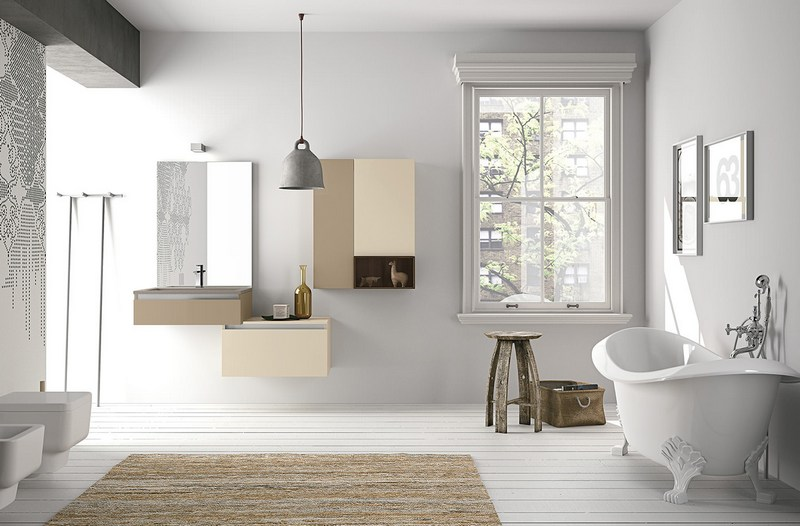 мебель в ванную в скандинавском стиле фото