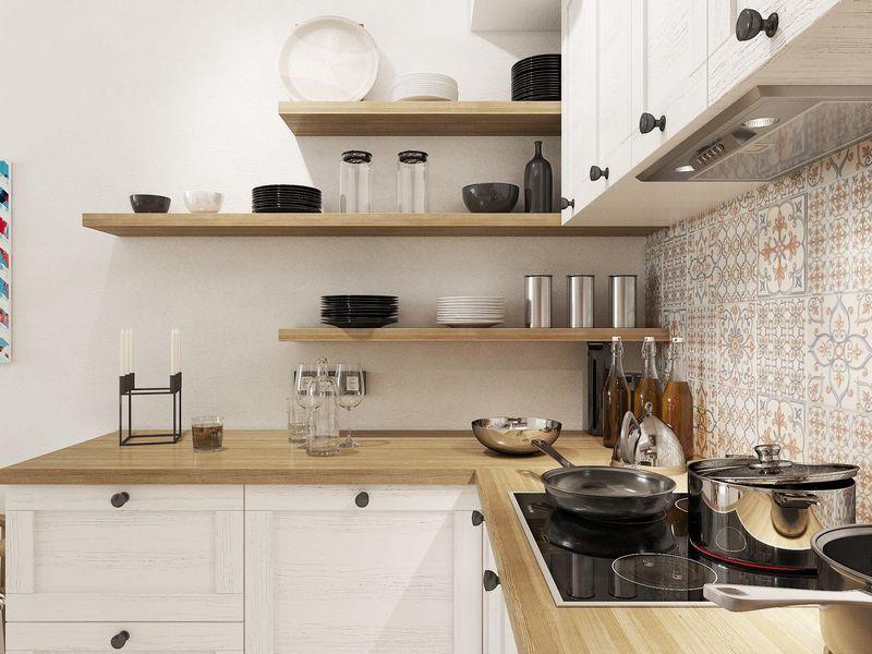 столешница на кухне в скандинавском стиле фото