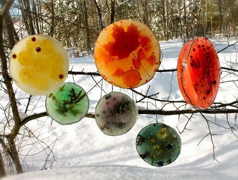 декор из ледяных фигурок фото