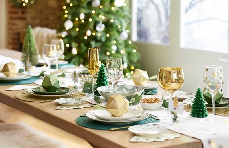 новогодняя сервировка стола фото