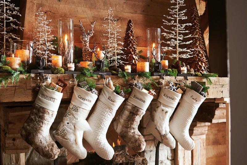 рождественские носки белого цвета фото