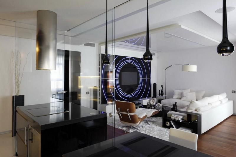 интерьер дома в стиле хай тек фото