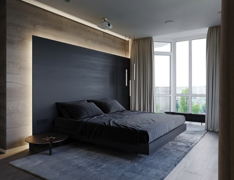 как оформить спальню в стиле хай тек фото