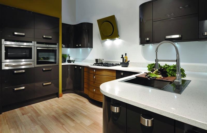 отделка кухни в стиле хай тек фото
