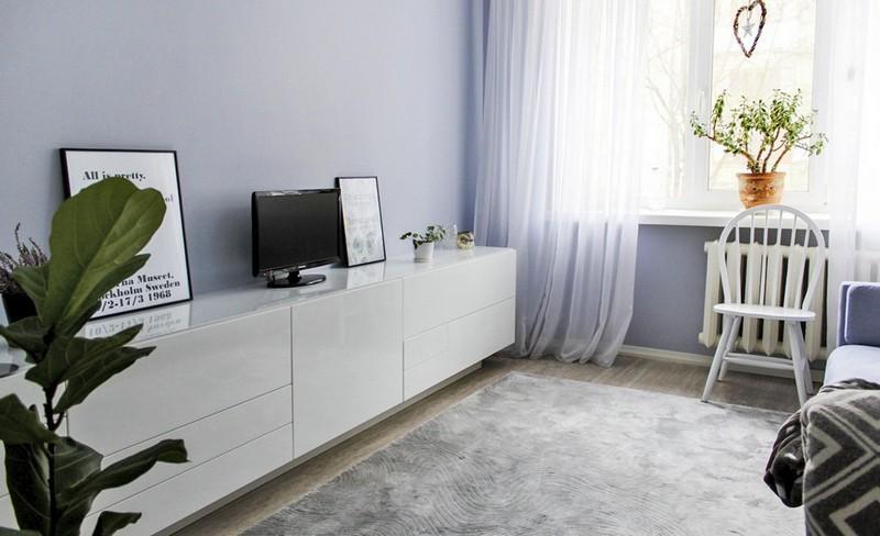 гостиная в маленькой квартире фото