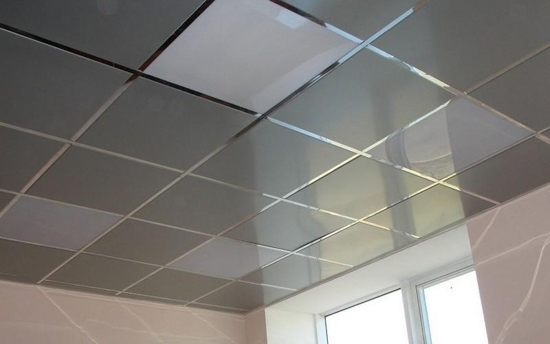 глянцевый кассетный потолок фото