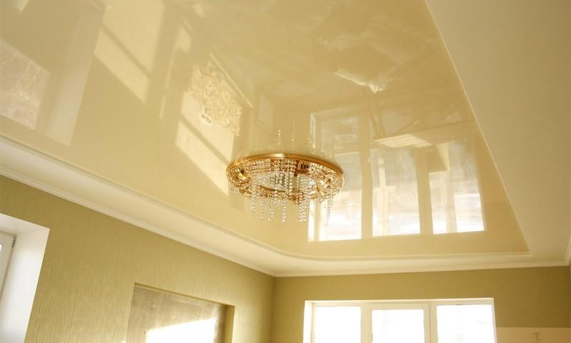 подвесной глянцевый потолок фото