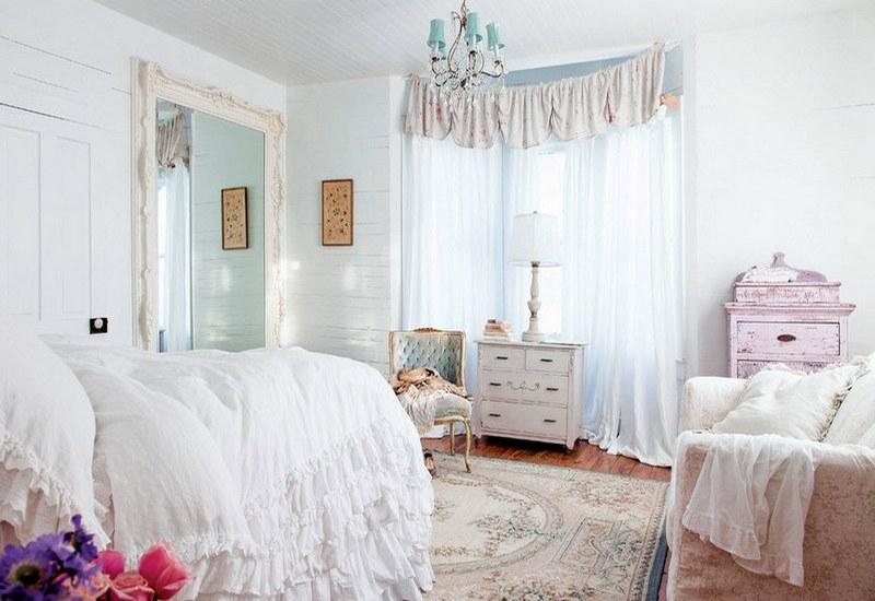 белая спальня шебби шик фото