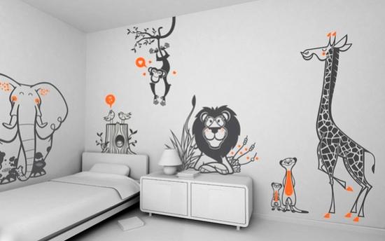 рисунки в детскую комнату фото