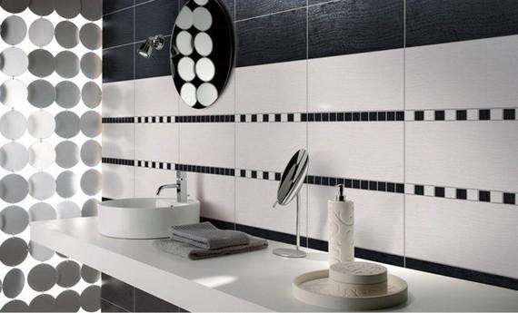 ванная в черно-белых тонах