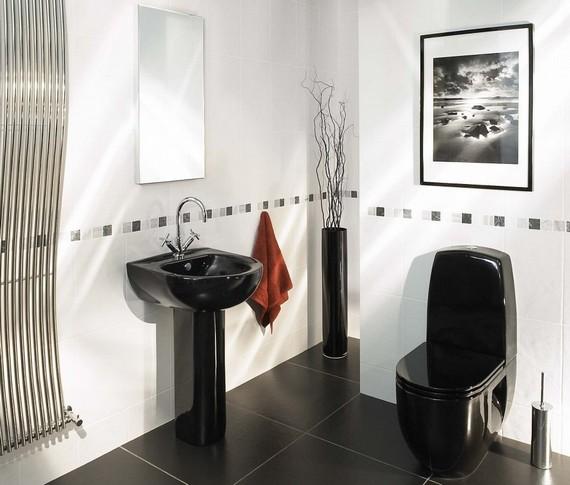 Черная сантехника в ванную комнату