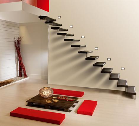 Дизайн лестницы в доме красота и