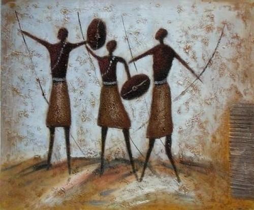 роспись по дереву в африканском стиле.
