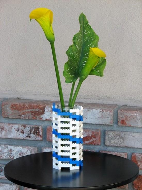 Конструкторы Лего декор вазы с цветами