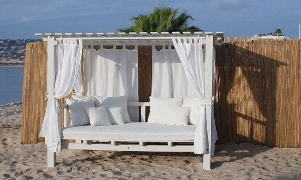 Мебель для сада с балдахином фото