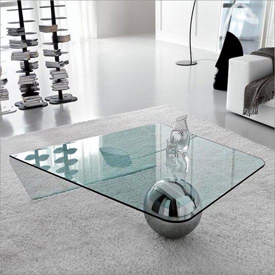 Кофейный столик стеклянный
