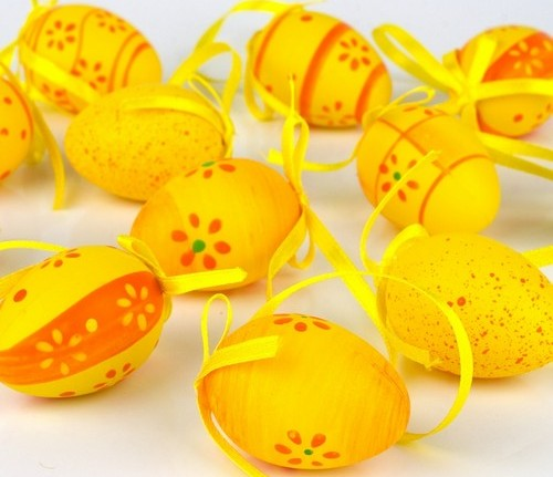 Пасхальные яйца крашенные