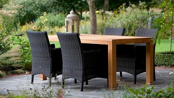 Садовая мебель из дерева плетеная