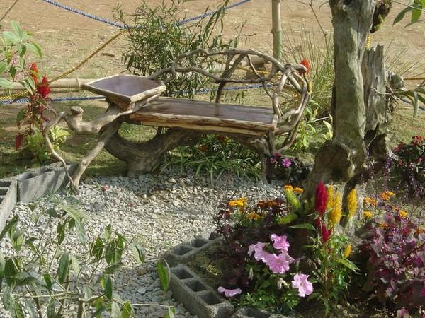 Садовая мебель из дерева фото