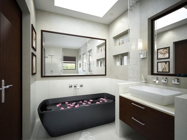 Ванна черного цвета