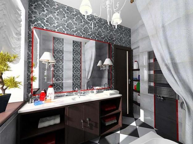 Витражные вставки в ванной фото