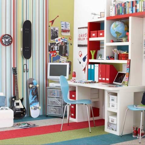 Ковролин в интерьере комнаты студента
