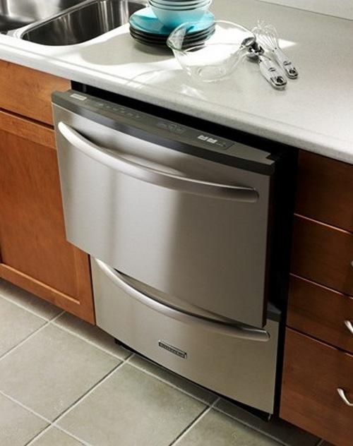 Полностью встраиваемая посудомоечная машина фото