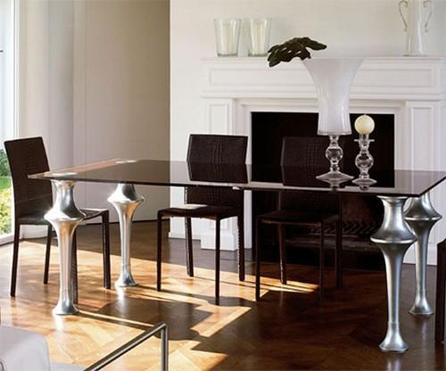 Стол для кухни стеклянный фото