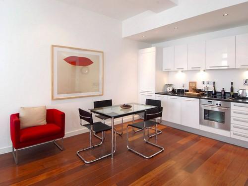 Стеклянные кухонные столы фото