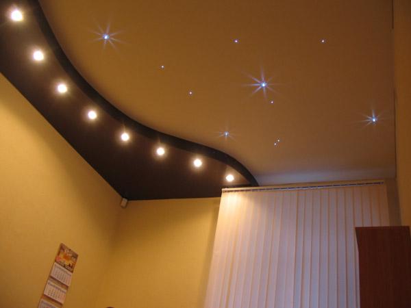 """Одним из востребованных вариантов освещения. в категории: Матовый потолок, на тему  """"матовый натяжной потолок..."""