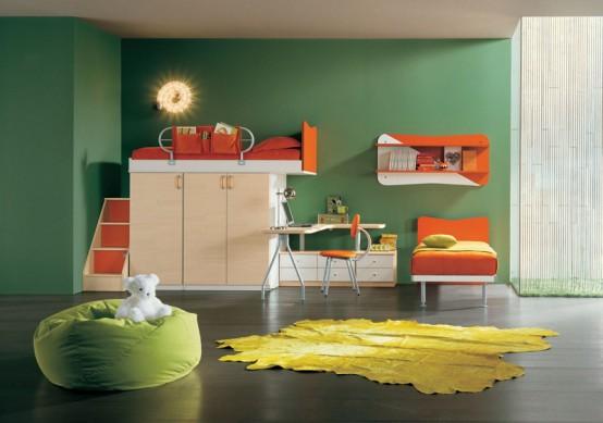 Деткая комната со встроенным шкафом