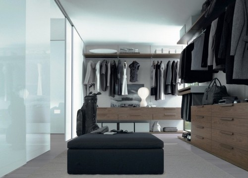 Гардеробные комнаты встроенные