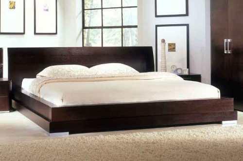 Кровати двуспальные подиум