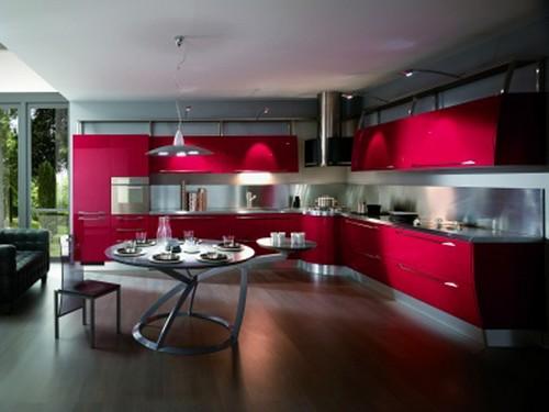 Современные кухни в стиле хай тек