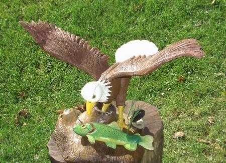 Садовые скульптуры из дерева