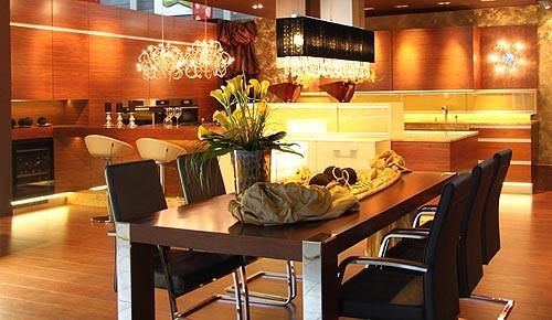 Кухня столовая гостиная
