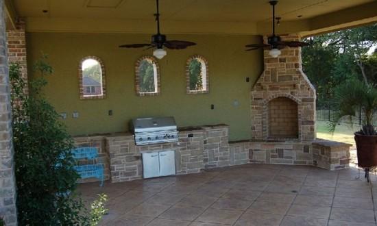 Летняя кухня на даче фото