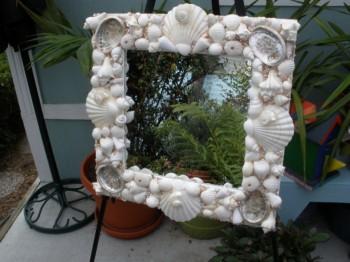 Рамка для картины из морских ракушек