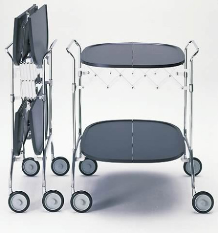 Сервировочный столик на колесах складной