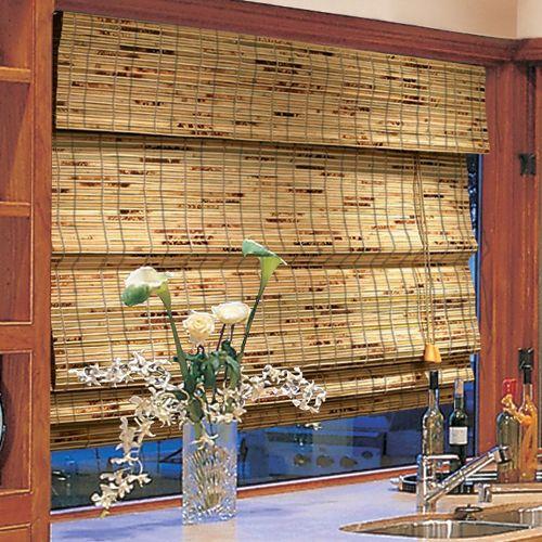 Шторы на кухню бамбуковые