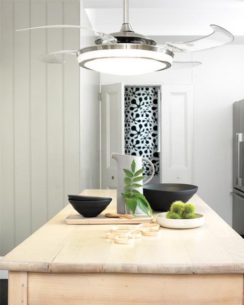 Потолочный вентилятор на кухне