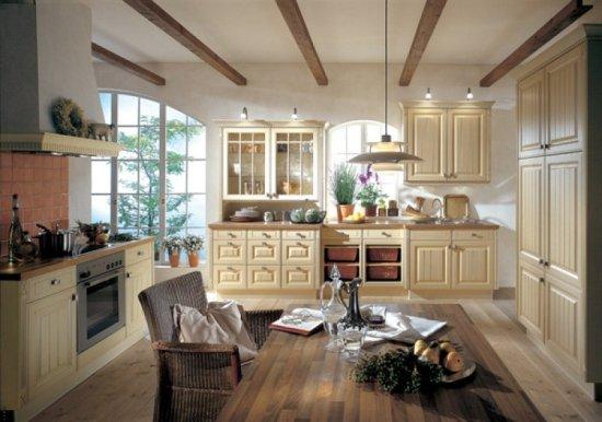 Кухня в стиле прованс мне нравится, что-то вроде этого.