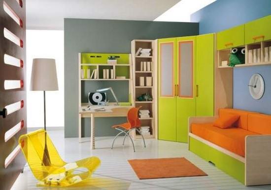 Детская комната оранжевая