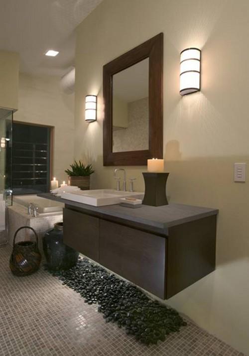 Освещение в ванной фото
