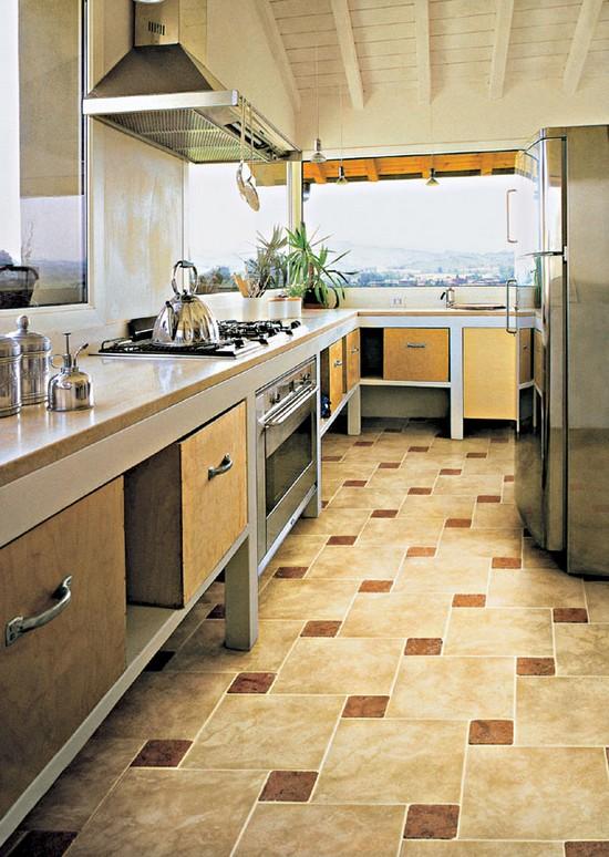 Дизайн пола плитка кухня