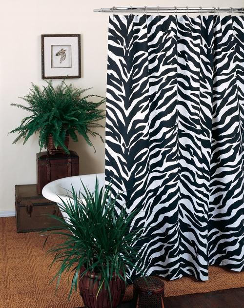 Занавеска для ванной зебра